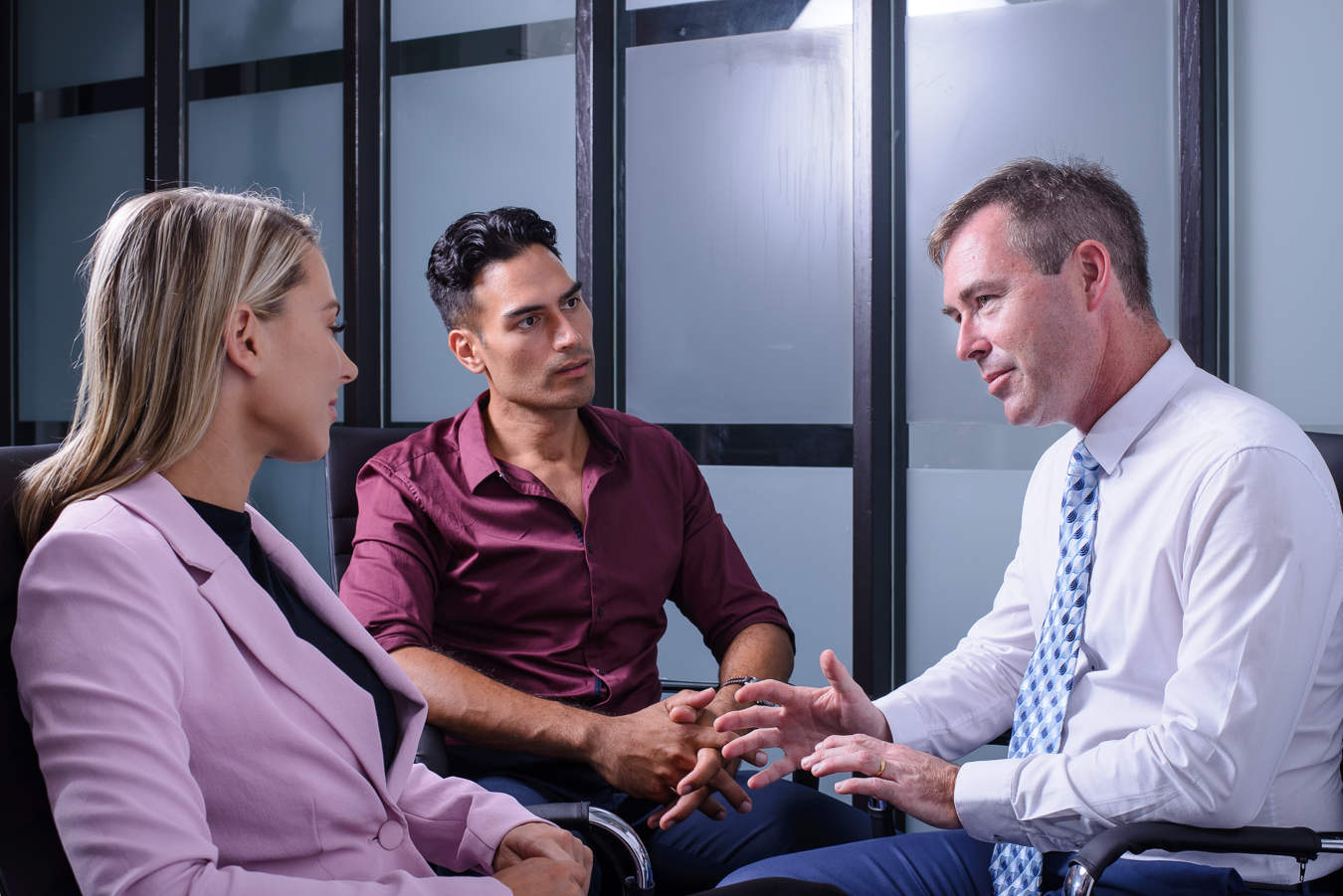 Scott meeting with clients